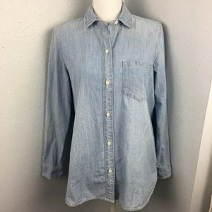 Madewell Denim / Chambray Button Front Shirt